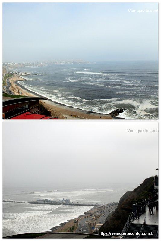Vista do shopping Larcomar - Lima/Peru