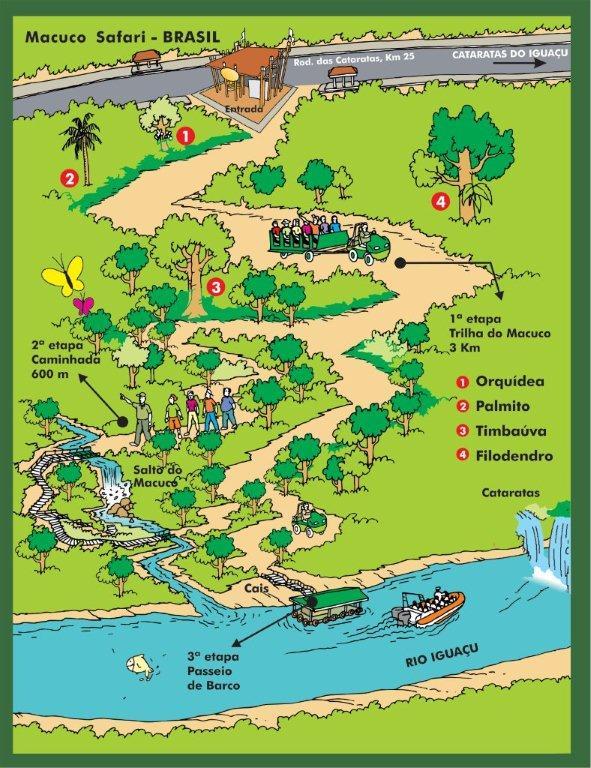 Mapa do Macuco Safari