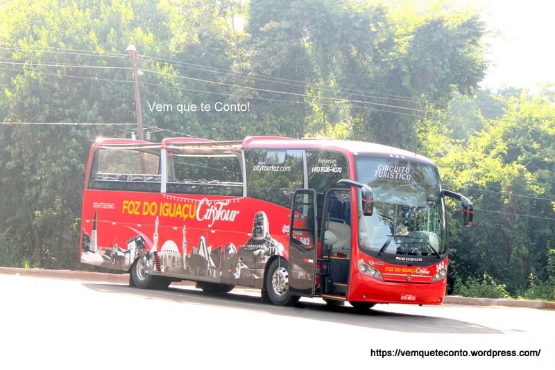 ônibus Panorâmico do City Tour de Foz do Iguaçu
