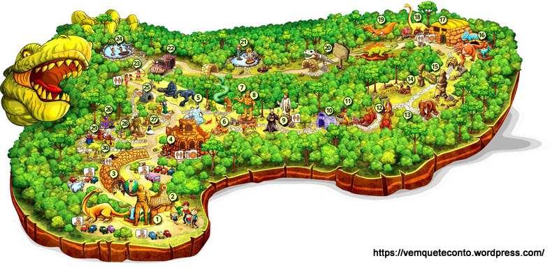Mapa terra magica florybal