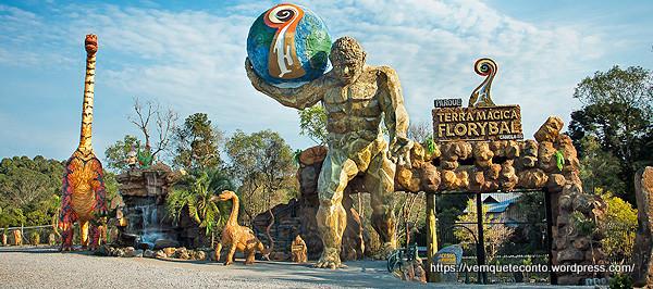 Entrada do Parque Terra Magica Floryba