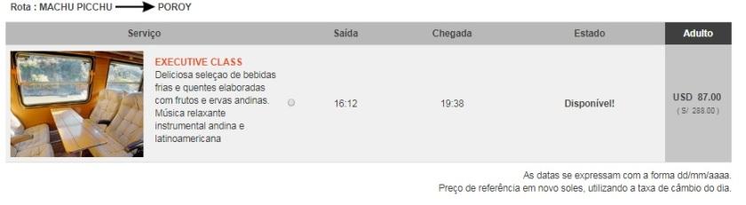 Compra Inca Rail Etapa 5