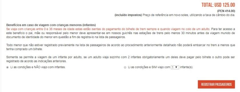Compra Inca Rail Etapa 6