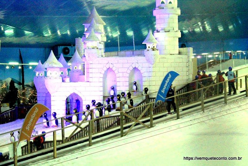 Castelo de Neve do parque de neve de Gramado