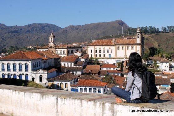 Vista da cidade de Ouro Preto/MG