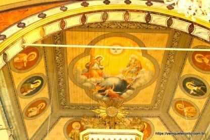 Pintura do teto da Igreja São Marcos - Nova Veneza/SC