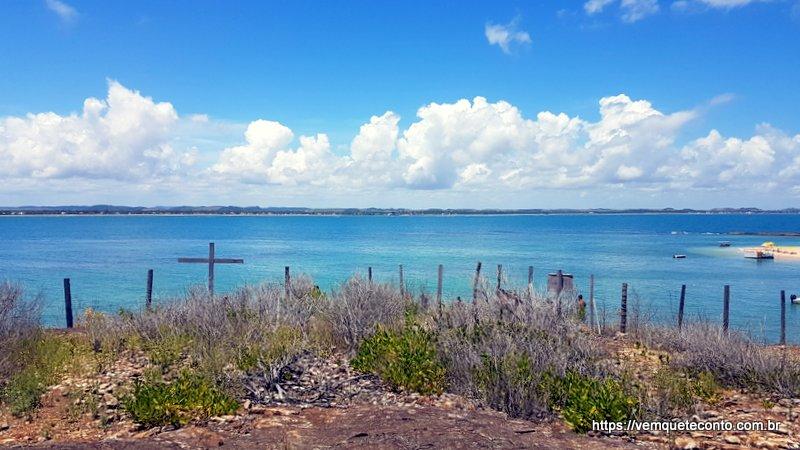 Vista do alto da Ilha de Santo Aleixo.