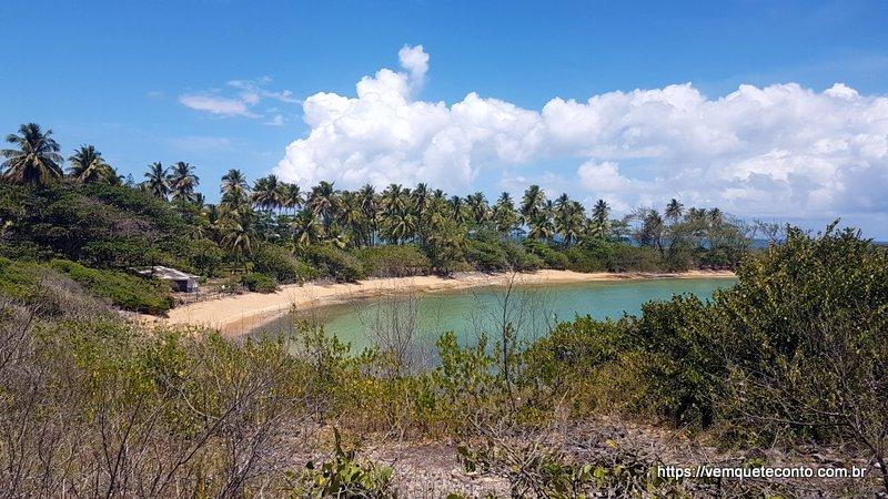 Chegando na Praia da Ferradura - Ilha de Santo Aleixo