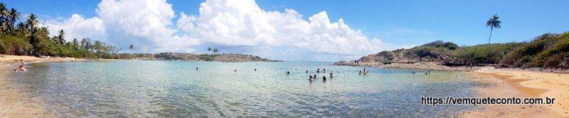 Panorâmica da Praia da Ferradura - Ilha de Santo Aleixo