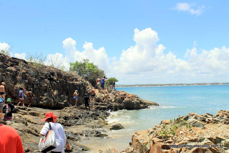 Início da trilha para a Praia da Ferradura - Ilha de Santo Aleixo